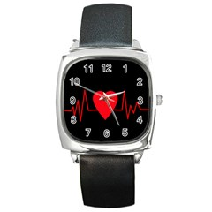 Hart bit Square Metal Watch