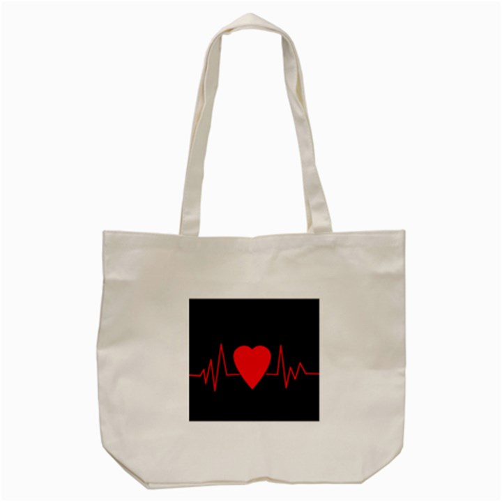Hart bit Tote Bag (Cream)