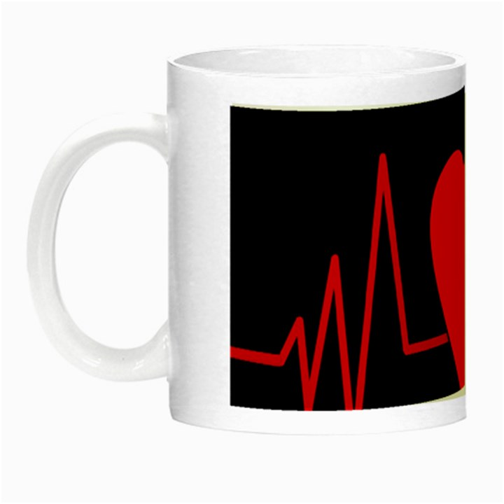 Hart bit Night Luminous Mugs