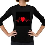 Hart bit Women s Long Sleeve Dark T-Shirts Front