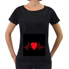 Hart bit Women s Loose-Fit T-Shirt (Black)