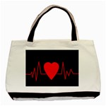 Hart bit Basic Tote Bag Front
