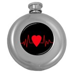 Hart bit Round Hip Flask (5 oz) Front