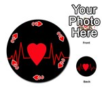 Hart bit Playing Cards 54 (Round)  Front - Heart2