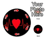 Hart bit Playing Cards 54 (Round)  Front - Heart5