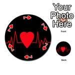 Hart bit Playing Cards 54 (Round)  Front - Heart7