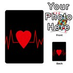 Hart bit Multi-purpose Cards (Rectangle)  Back 24