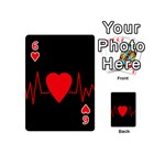 Hart bit Playing Cards 54 (Mini)  Front - Heart6