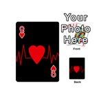 Hart bit Playing Cards 54 (Mini)  Front - HeartQ