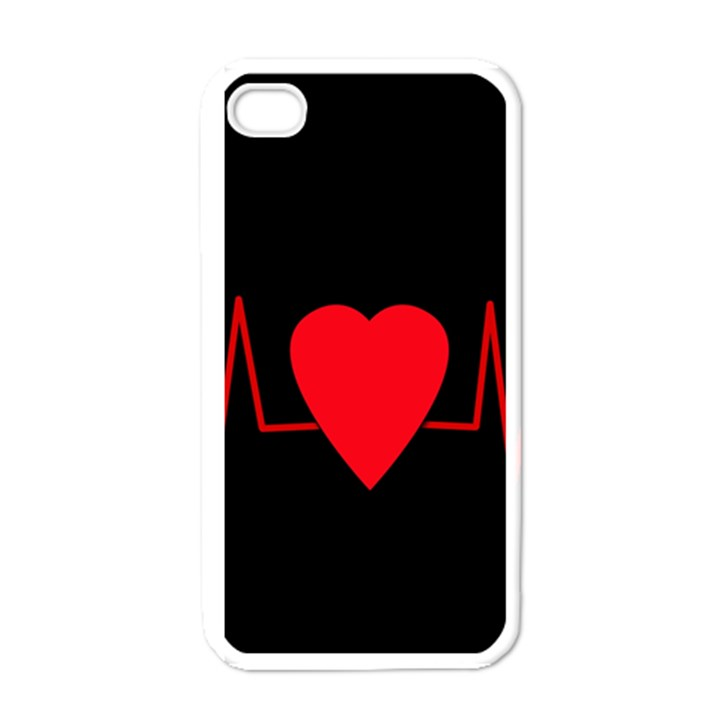 Hart bit Apple iPhone 4 Case (White)