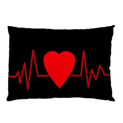 Hart bit Pillow Case (Two Sides)