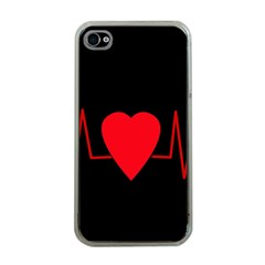 Hart bit Apple iPhone 4 Case (Clear)