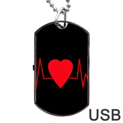 Hart bit Dog Tag USB Flash (One Side)