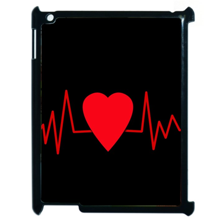 Hart bit Apple iPad 2 Case (Black)
