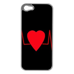 Hart bit Apple iPhone 5 Case (Silver)