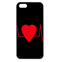 Hart bit Apple iPhone 5 Seamless Case (Black)