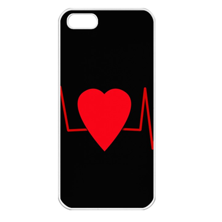 Hart bit Apple iPhone 5 Seamless Case (White)