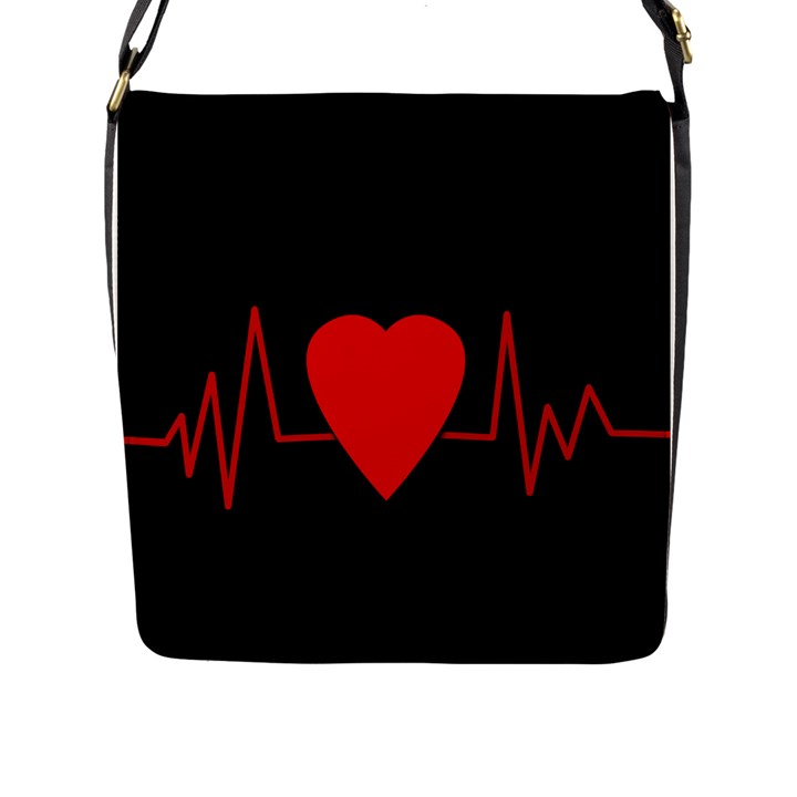 Hart bit Flap Messenger Bag (L)