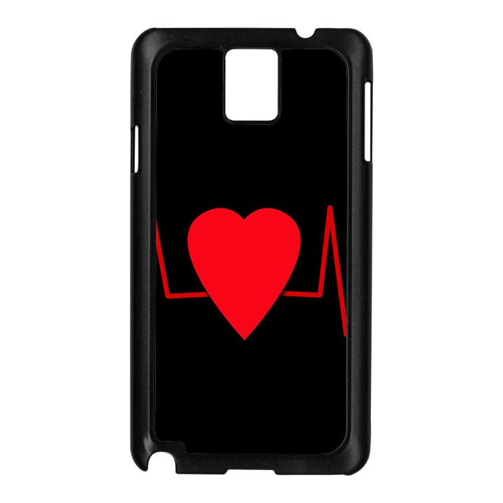 Hart bit Samsung Galaxy Note 3 N9005 Case (Black)