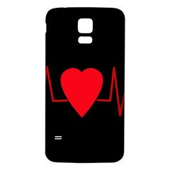 Hart bit Samsung Galaxy S5 Back Case (White)