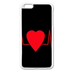 Hart bit Apple iPhone 6 Plus/6S Plus Enamel White Case