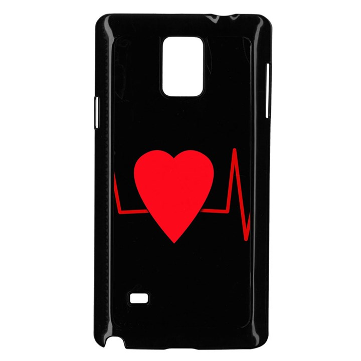 Hart bit Samsung Galaxy Note 4 Case (Black)