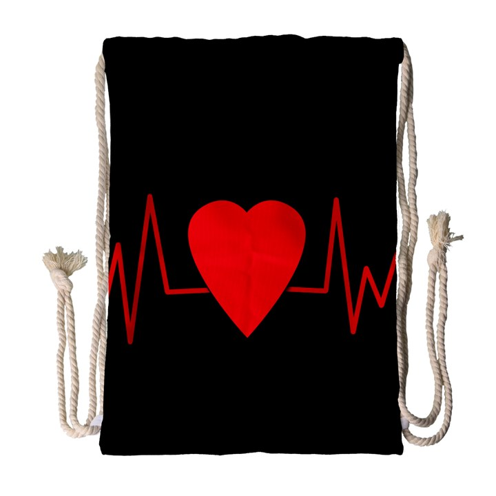 Hart bit Drawstring Bag (Large)