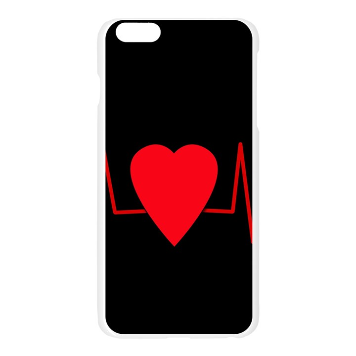 Hart bit Apple Seamless iPhone 6 Plus/6S Plus Case (Transparent)