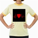 Hart bit Women s Fitted Ringer T-Shirts Front