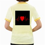 Hart bit Women s Fitted Ringer T-Shirts Back