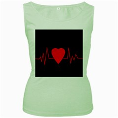 Hart bit Women s Green Tank Top