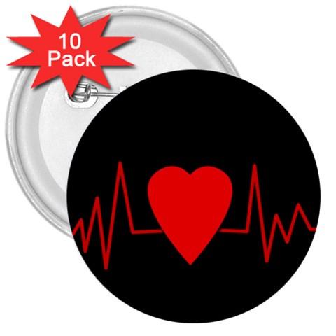 Hart bit 3  Buttons (10 pack)