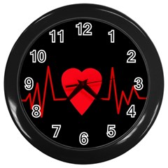 Hart bit Wall Clocks (Black)