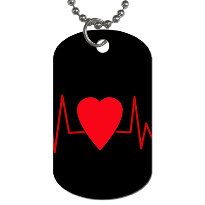 Hart bit Dog Tag (One Side)
