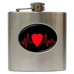Hart bit Hip Flask (6 oz) Front