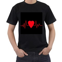 Hart Bit Men s T Shirt (black) (two Sided)