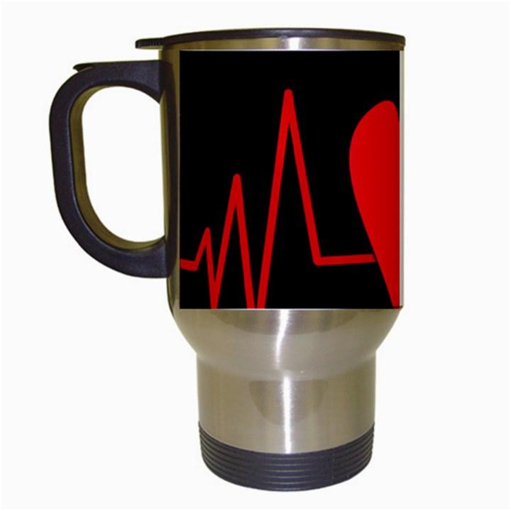Hart bit Travel Mugs (White)