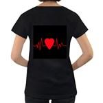 Hart bit Women s Loose-Fit T-Shirt (Black) Back
