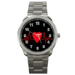 Hart bit Sport Metal Watch Front