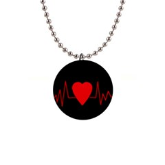 Hart bit Button Necklaces