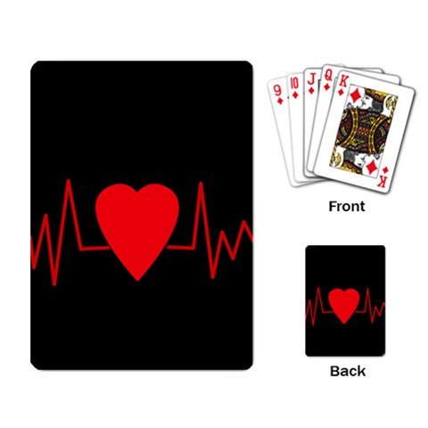 Hart bit Playing Card