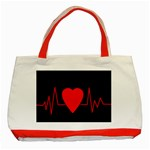Hart bit Classic Tote Bag (Red) Front