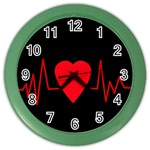 Hart bit Color Wall Clocks Front