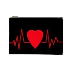 Hart bit Cosmetic Bag (Large)