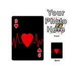 Hart bit Playing Cards 54 (Mini)  Front - Heart9