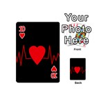 Hart bit Playing Cards 54 (Mini)  Front - Heart10