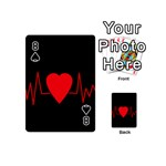 Hart bit Playing Cards 54 (Mini)  Front - Spade8
