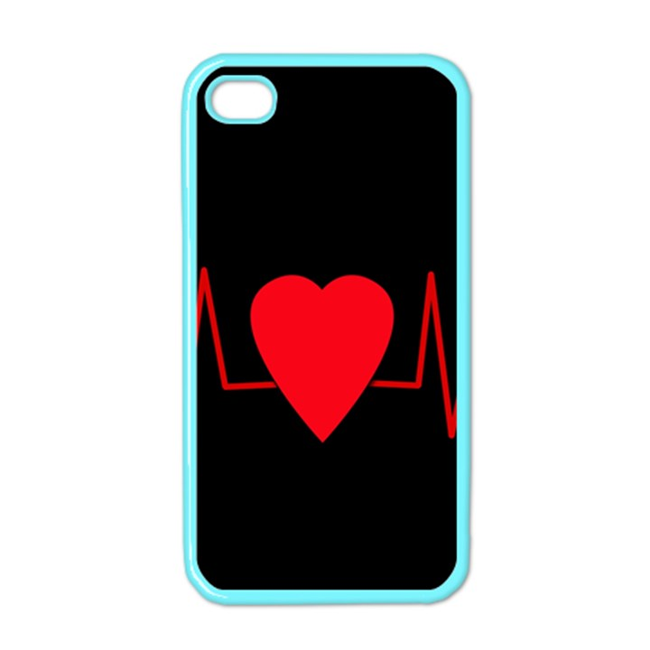 Hart bit Apple iPhone 4 Case (Color)