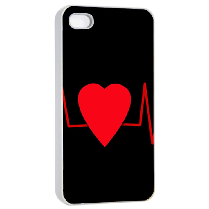 Hart bit Apple iPhone 4/4s Seamless Case (White)