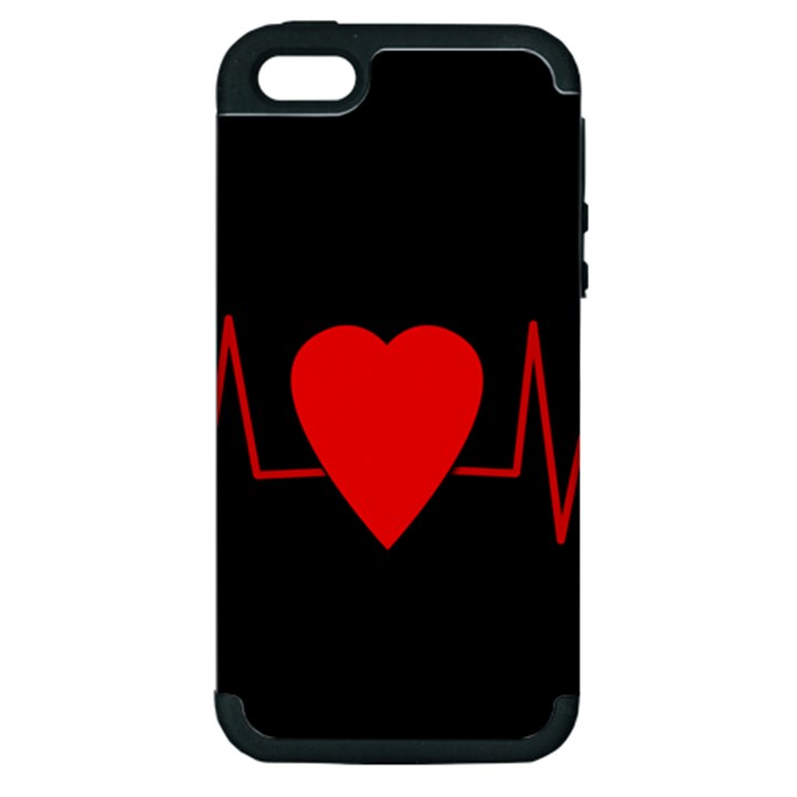 Hart bit Apple iPhone 5 Hardshell Case (PC+Silicone)